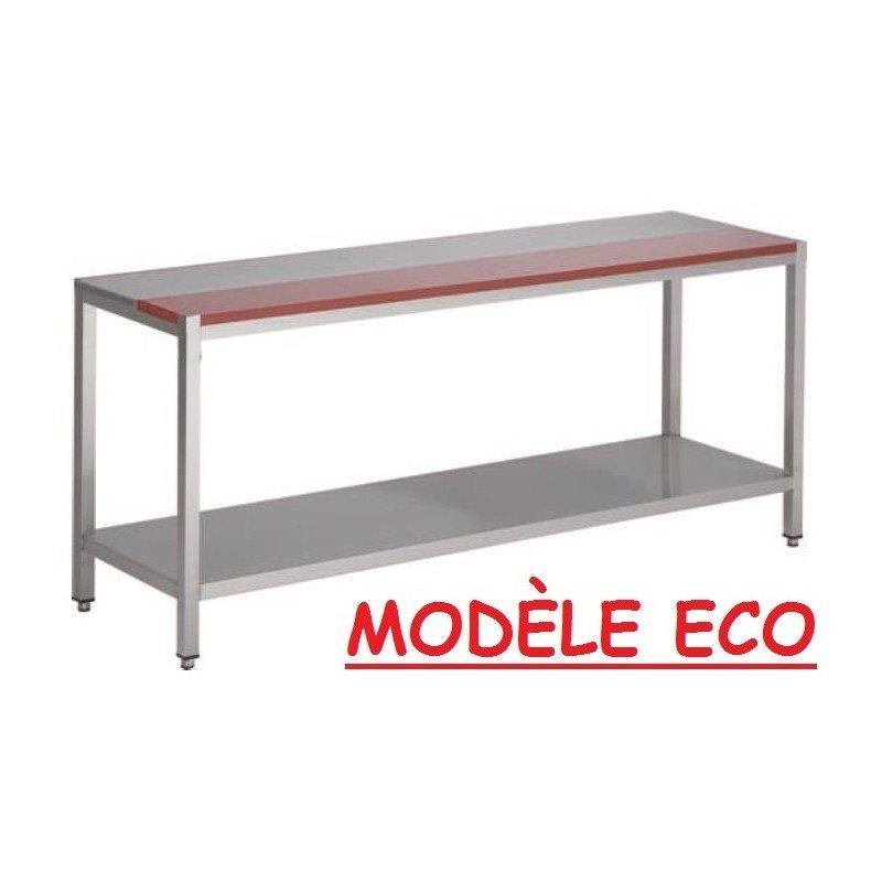 Table mi-polyéthylène mi-inox