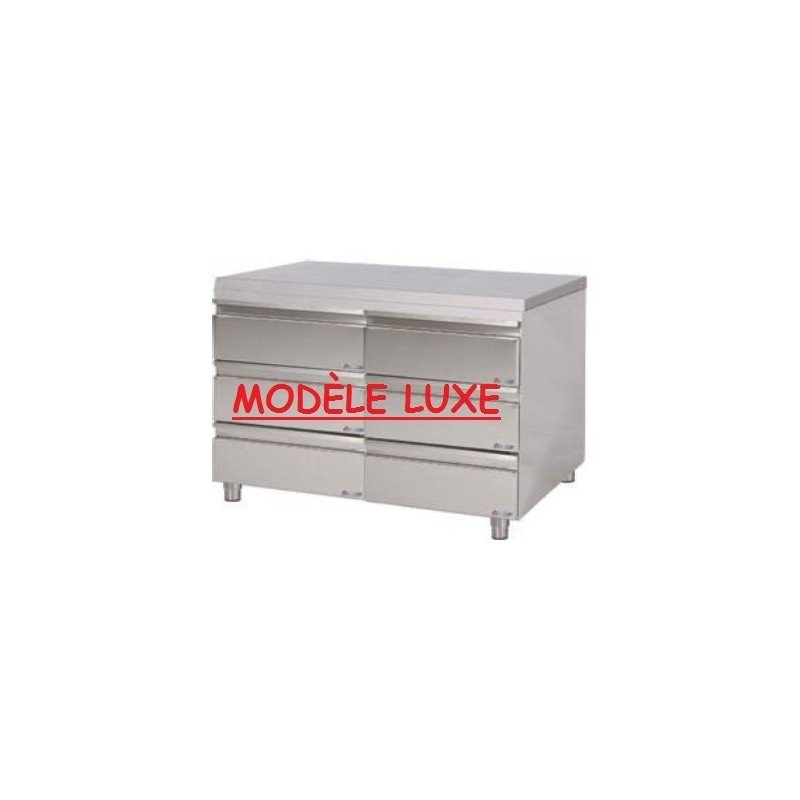 Table-armoire 2x3 tiroirs