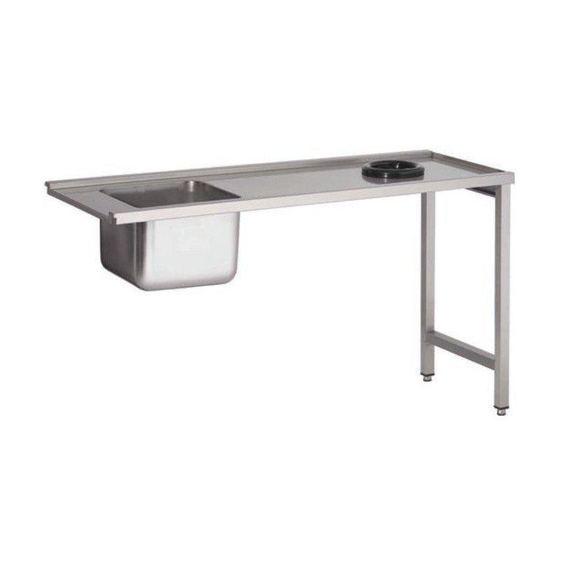 Table pour lave-vaisselle avec bac et trou à déchets