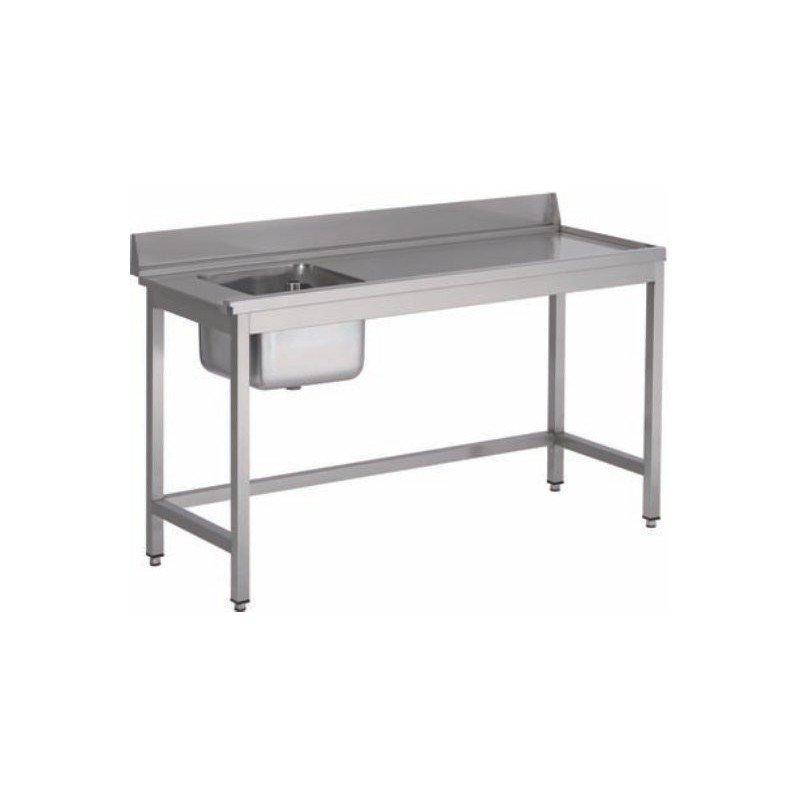 Table pour lave-vaisselle avec bac et dosseret