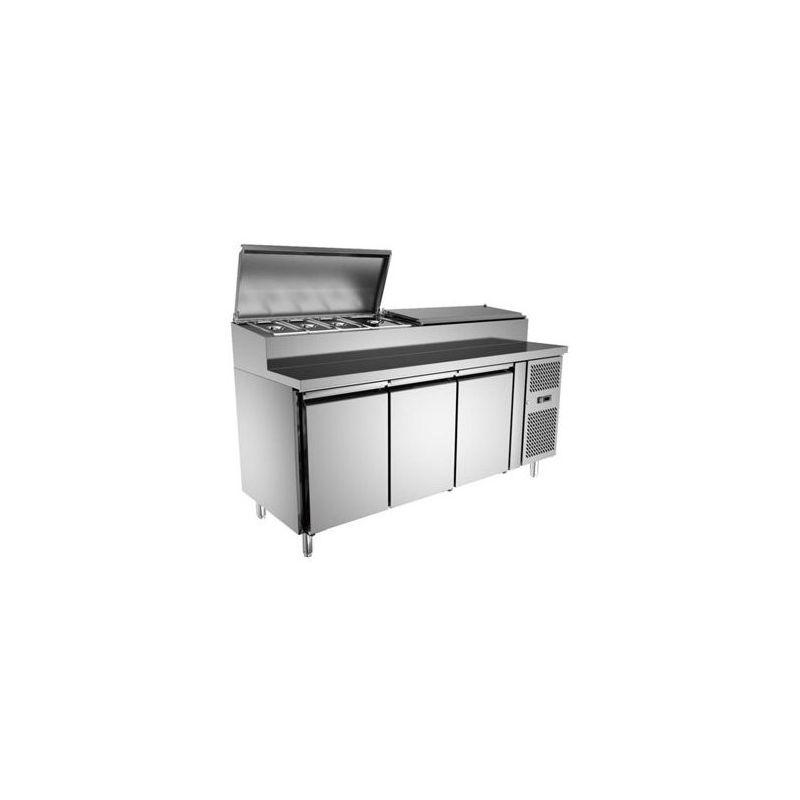 Table à sandwiches réfrigérée 3 portes, 800 mm de profondeur