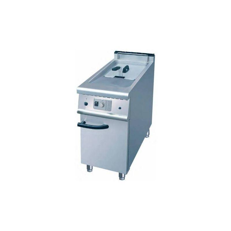 Friteuse à gaz sur coffre 20L avec vidange