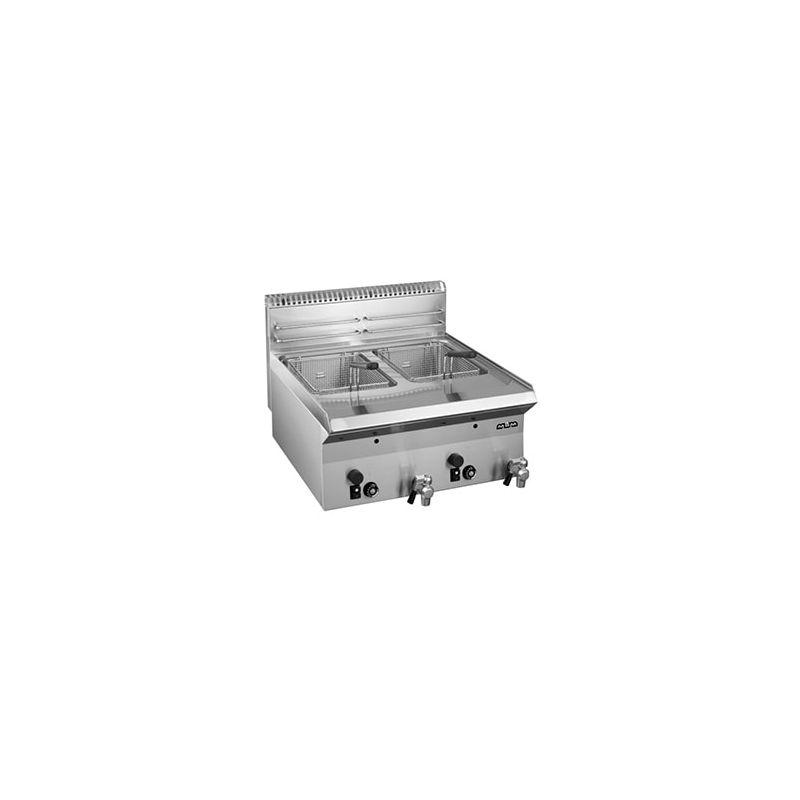 Friteuse à gaz à poser 2x8L avec vidange