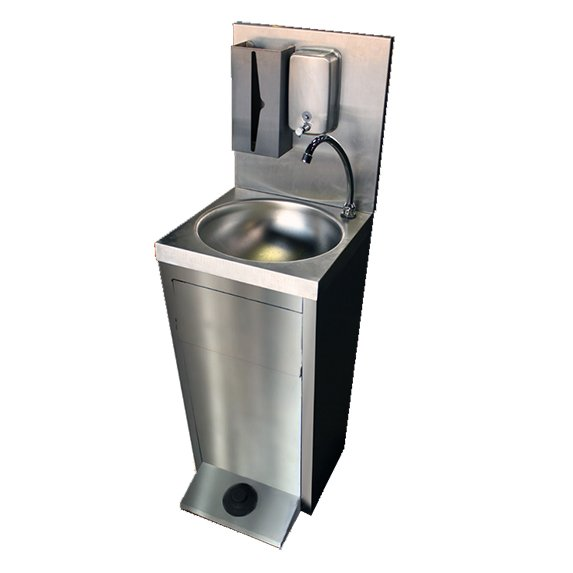 Lave-mains inox autonome