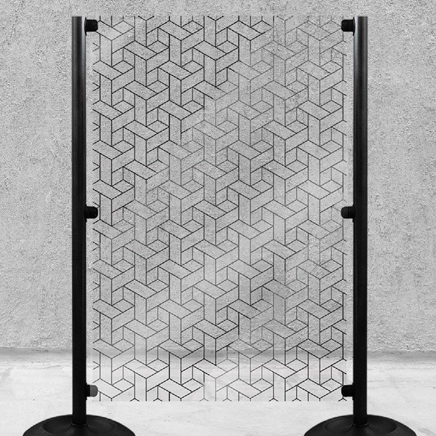 Panneaux de séparation en PVC translucide modèle géométrique